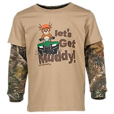 Bass Pro Shops Let's Get Muddy Layered Shirt for Toddler Boys
