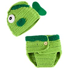 Bass Pro Shops Crochet Fish Hat and Diaper Cover Set for Babies