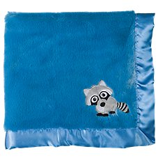 Bass Pro Shops Raccoon Applique Satin-Trimmed Baby Blanket
