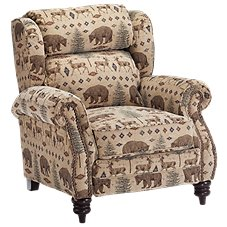 Lane Furniture White River High-Leg Recliner Deer/Bear