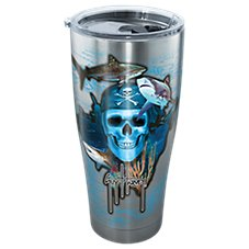 Tervis Tumbler Guy Harvey Pirate Skull Stainless Steel Tumbler with Clear Lid