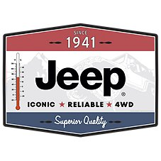 Open Road Brands Jeep Thermometer Sign