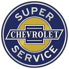 Open Road Brands Chevrolet Service Die-Cut Embossed Tin Sign