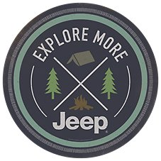 Open Road Brands Jeep Explore More Die-Cut Embossed Tin Sign