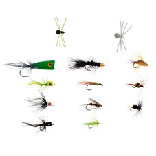 K & E Stopper Lures 13-Piece Freshwater Fly Kit