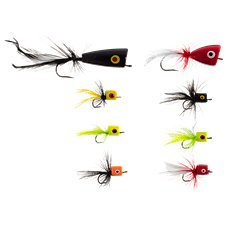 K & E Stopper Lures 8-Piece Freshwater Popper Fly Kit