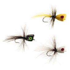 K & E Stopper Lures 3-Piece Bass Popper Fly Kit