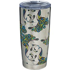 PURE Drinkware Peacock Stainless Steel Tumbler