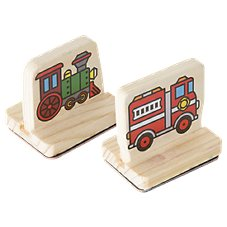 Melissa & Doug My First Wooden Stamp Set: Vehicles