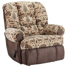 Lane Furniture ComfortKing Deer/Bear Granddaddy Rocker Recliner