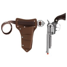 Parris Lawman Die-Cast Metal Toy Pistol with Holster and Belt