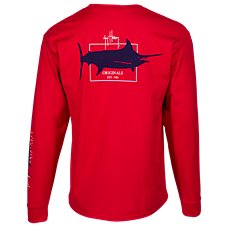 Guy Harvey Logo Long-Sleeve Pocket T-Shirt for Men