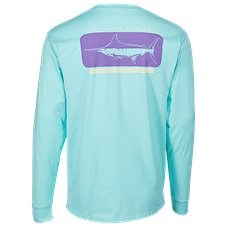 Guy Harvey Woodblock Long-Sleeve T-Shirt for Men