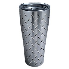 Tervis Tumbler Diamond Plate Stainless Steel Tumbler with Clear Lid