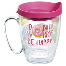 Tervis Tumbler Donut Worry Be Happy Insulated Mug with Lid