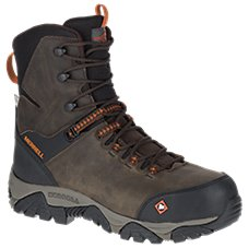 Merrell Phaserbound Waterproof Side Zip Safety Toe Work Boots for Men