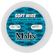 Malin PFC Trolling Wire - Soft Stainless Steel or Soft Monel