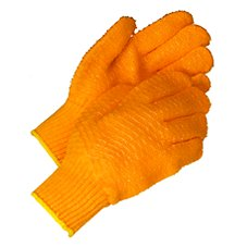 Orange Polyester Gloves