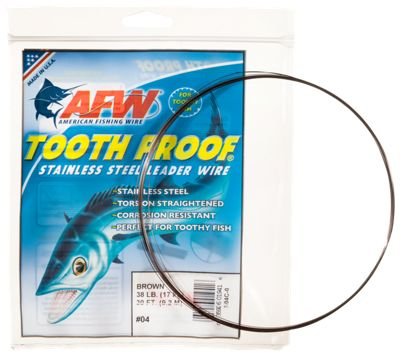 American fishing wire tooth proof stainless steel leader for Steel fishing leader