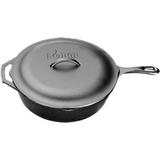 Lodge Logic Cast-Iron Chicken Fryer with Iron Lid