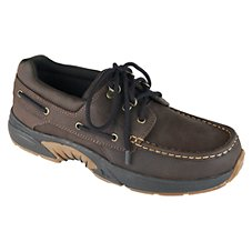 Rugged Shark Atlantic Boating Shoes for Men - Dark Brown