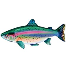 Bass Pro Shops Giant Stuffed Fish for Kids - Rainbow Trout