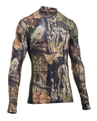 Under Armour UA ColdGear INFRARED Scent Control Tevo Mock Neck Shirt for Men - Mossy Oak Break-Up Country - M