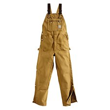 Carhartt Duck Zip-To-Thigh Unlined Bib Overalls for Men