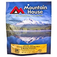 Mountain House Freeze Dried Chicken Breasts with Rib Meat and Mashed Potatoes Entree