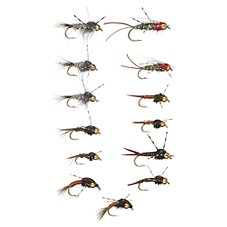White River Fly Shop 24-Piece Rubber Leg Nymph Assortment