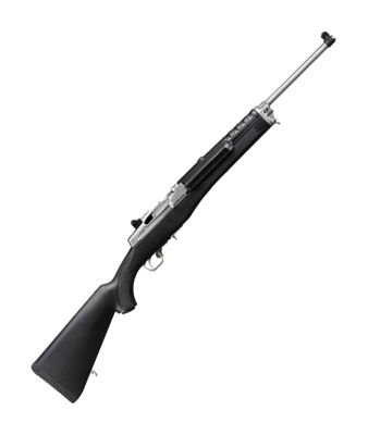ruger mini 14 ranch semi auto rifle with stainless steel barrel