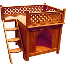 Merry Products Wooden Dog House - Room With a View - Model QS004