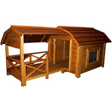 Merry Products Wooden Dog House - The Barn - Model QL002