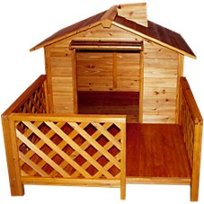 Merry Products Wooden Dog House - The Mansion - Model QL006