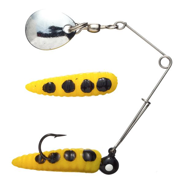 Johnson Original Beetle Spin -  1/32 oz. - Yellow/Black Spots with Silver Blade