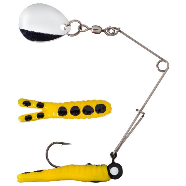 Johnson Original Beetle Spin - 1/4 oz. - Yellow/Black Spots with Silver Blade