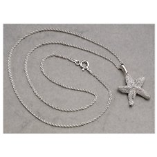 Kabana Jewelry Sterling Silver 18'' Necklace with Starfish Pendant