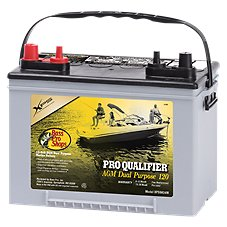 Bass Pro Shops XPS Pro Qualifier AGM 12-Volt Dual Purpose 120 Marine Battery