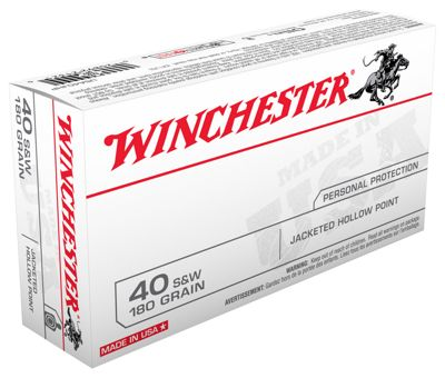 Winchester USA Handgun Ammo – .40 Smith & Wesson – FMJ – 100 Rounds