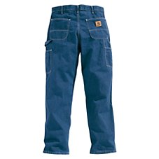 Carhartt Washed Denim Work Dungaree Jeans for Men