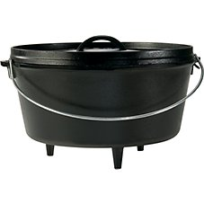 Lodge Logic 8-Quart Cast Iron Deep Camp Dutch Oven