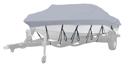 "Hurricane Semi-Custom Boat Covers for Aluminum Jon Boats - Square Front - 14'6""-15'5"" - Linen"