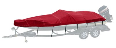 Bass Pro Shops Exact Fit Custom Boat Cover by Westland - Tracker - 2003-2005 Pro Team 185 SC Jet - Burgundy