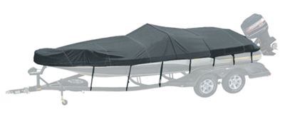 Bass Pro Shops Exact Fit Custom Boat Cover by Westland - Tracker Boats - 2002-2005 Panfish 16 SC - Charcoal