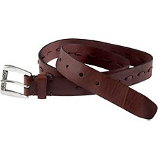 Natural Reflections Laced Belt for Ladies - Brown