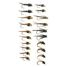 White River Fly Shop 20-Piece Copper Body Nymph Assortment