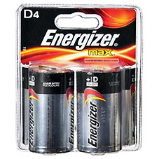 Energizer Max D Battery - 4 Pack