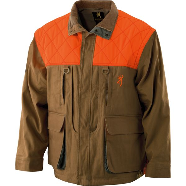 Browning Canvas Upland Jacket for Men - Tan/Blaze - M thumbnail