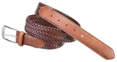 Outfitter Leather Braided Stretch Belt for Big Men