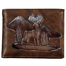 Bass Pro Shops Montana Leather Bifold Wallet - Buck